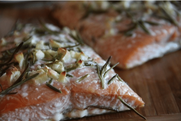 Baked Salmon With Rosemary Garlic And Olive Oil