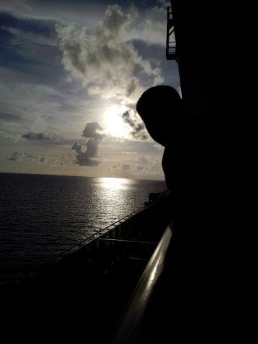 Carnival Breeze Balcony Sunset 3