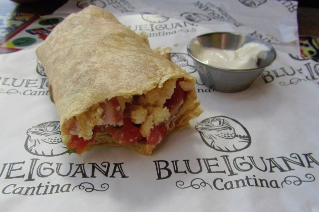 Carnival Breeze Blue Iquana Cantina Breakfast Burrito