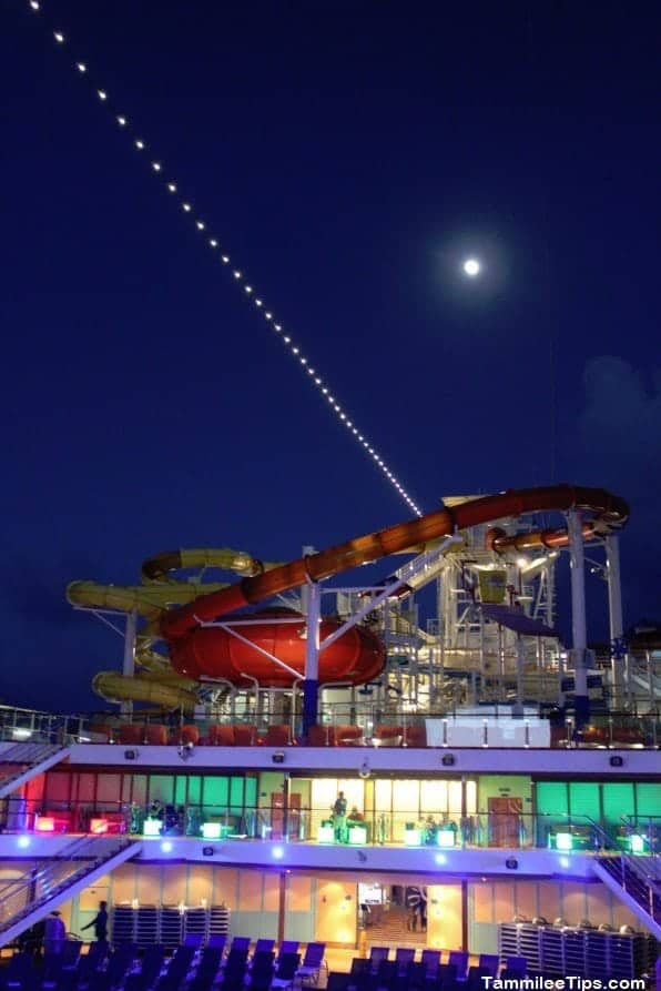 Carnival Breeze Pool Deck at Night 2