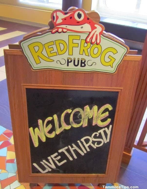 Live Thirsty at the Red Frog Pub on the Carnival Breeze