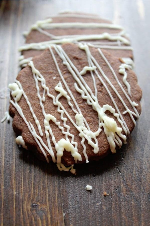 ... are with a Chocolate Shortbread Cookie with a White Chocolate drizzle