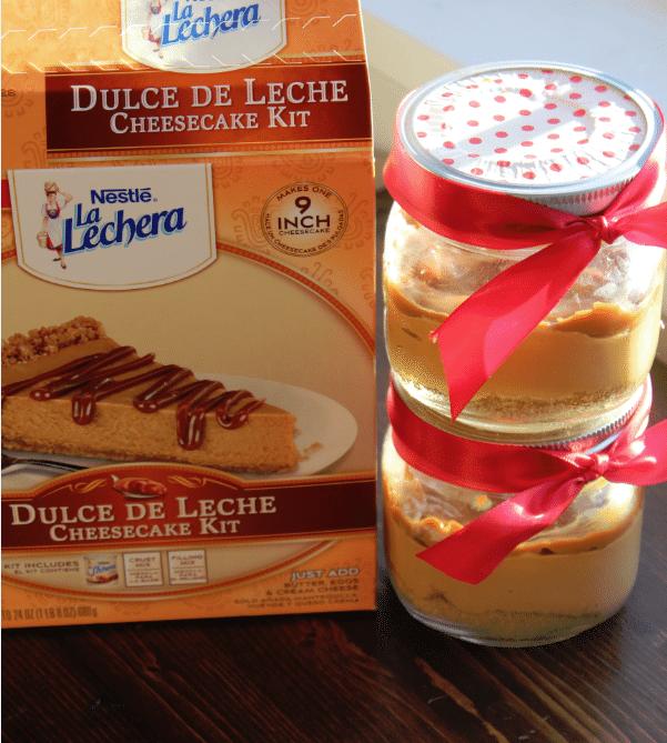Dulce De Leche Cheesecake in a Jar