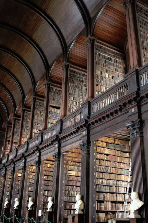 Book of Kells and Trinity College Dublin Ireland