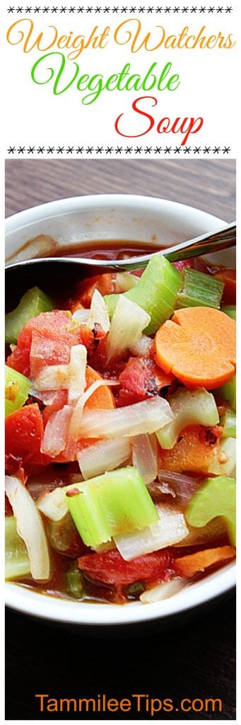 Weight Watchers Vegetable Soup Recipe is perfect for New Years diet resolutions. So easy to make and tastes delicious!
