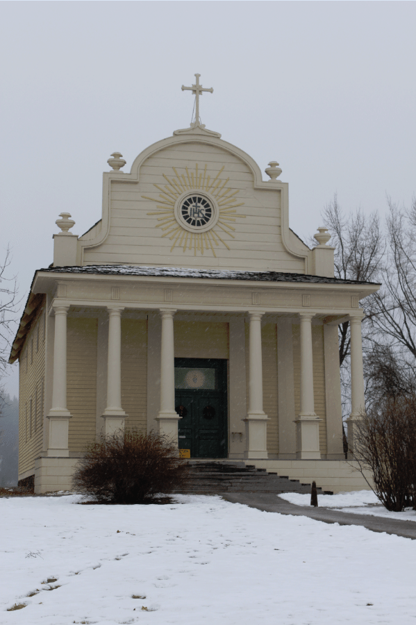 Cataldo Mission also known as Coeur d' Alene's Old Mission State Park Idaho