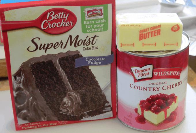 Super Easy Crock Pot Chocolate Cherry Dump Cake