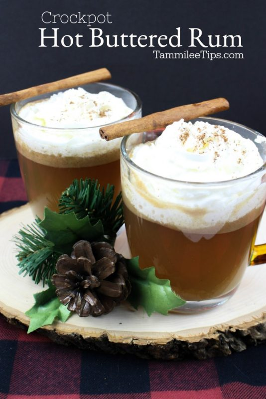 Quick and easy crockpot Hot Buttered Rum Recipe will warm you from the inside on a cold winter night. This easy slow cooker crock pot recipe is delicious! You can make the batter ahead of time and store it in the fridge. #rum #crockpot #slowcooker #hotbutteredrum #winter #Recipe