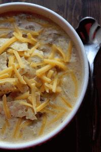 Crock pot Cheeseburger Soup Recipe