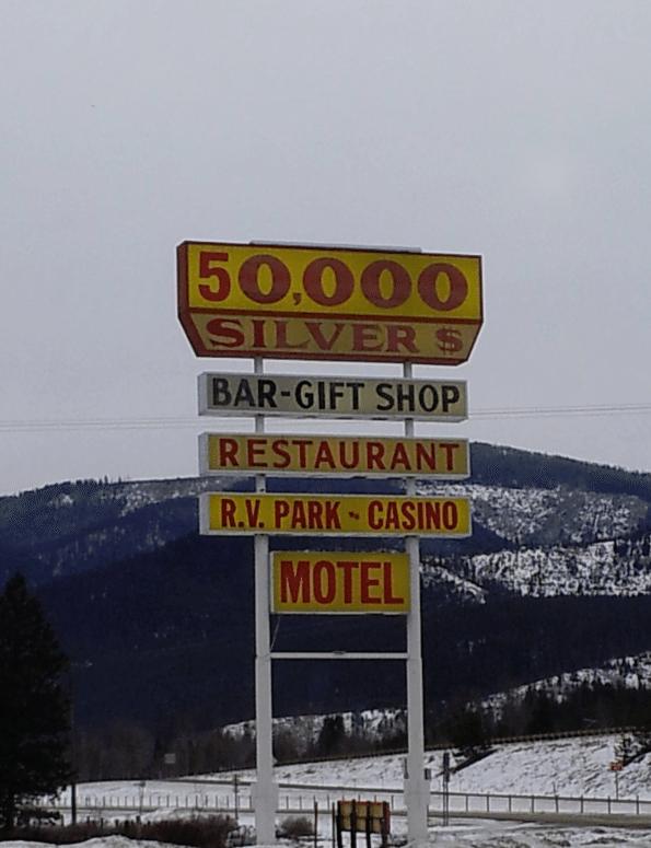 50,000 Silver Dollar Bar Haugen Montana
