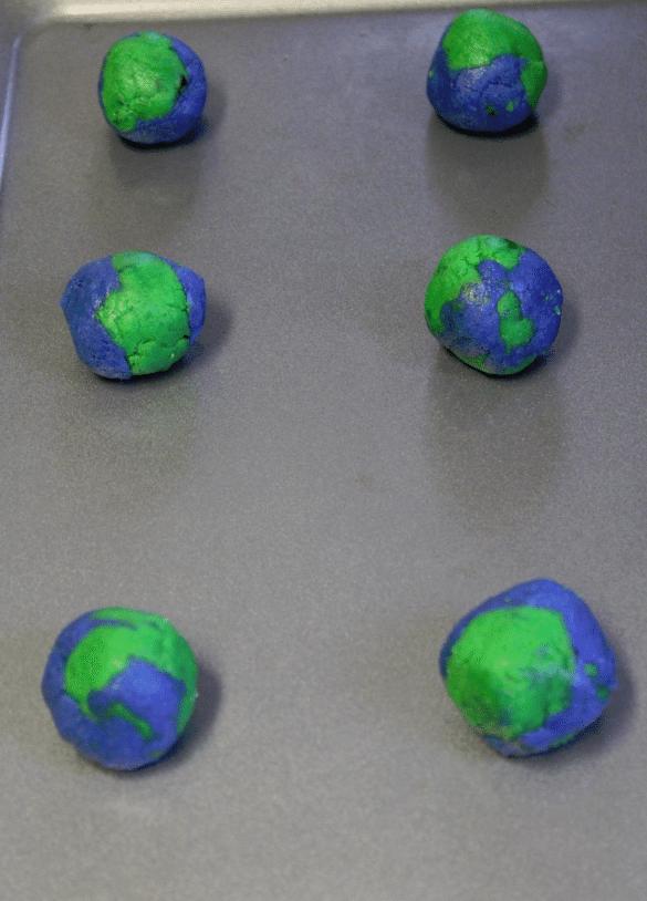 Earth Day Cookies dough balls