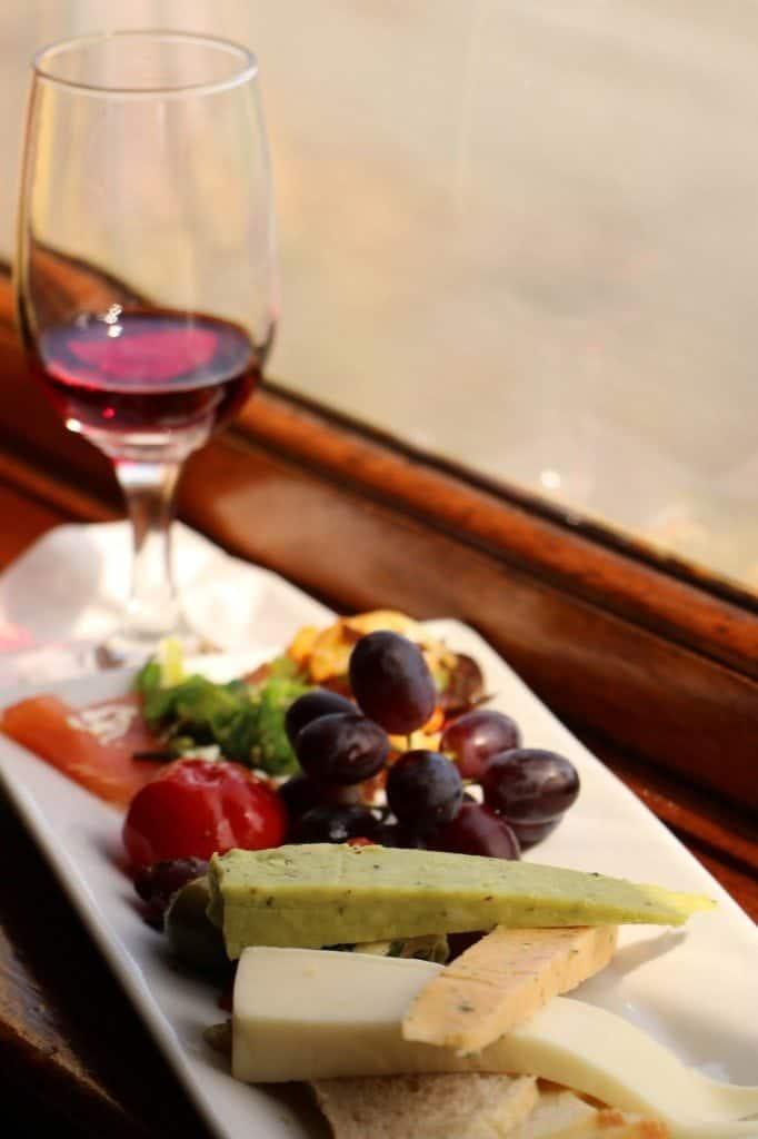 Napa Valley Wine Train appatizers