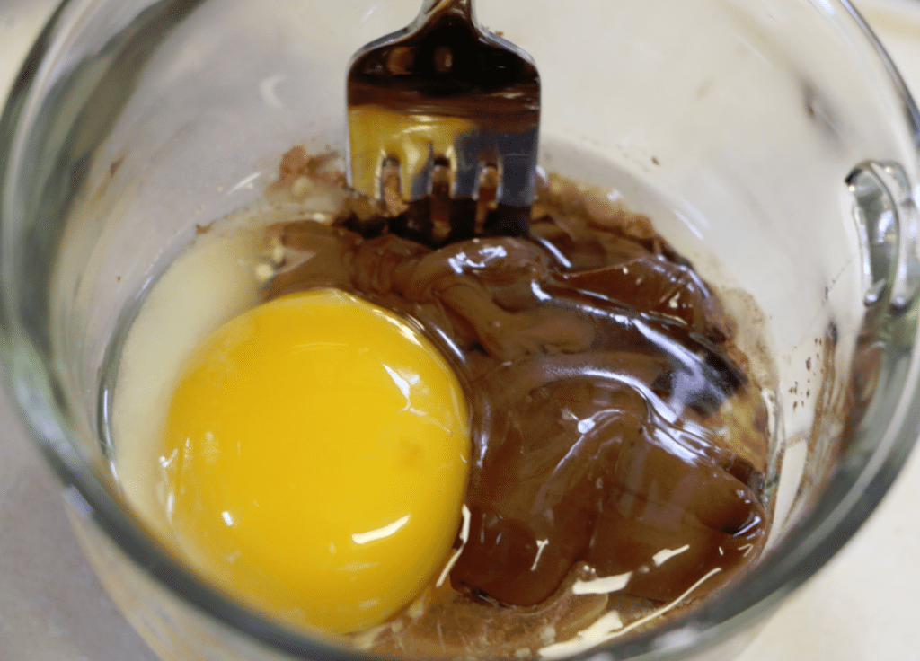 Nutella Mug Cake Step 2