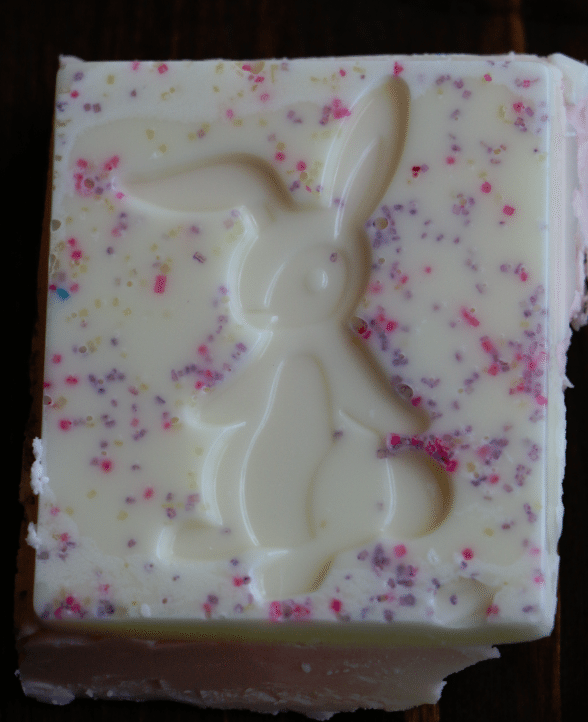 Spring Fudge with Sprinkles easter bunny
