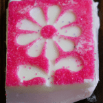 Spring Fudge with Sprinkles pink flower