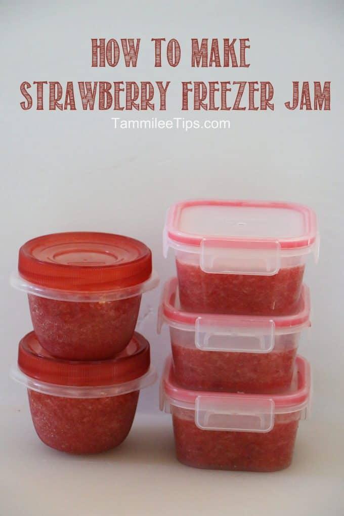 how to make strawberry freezer jam