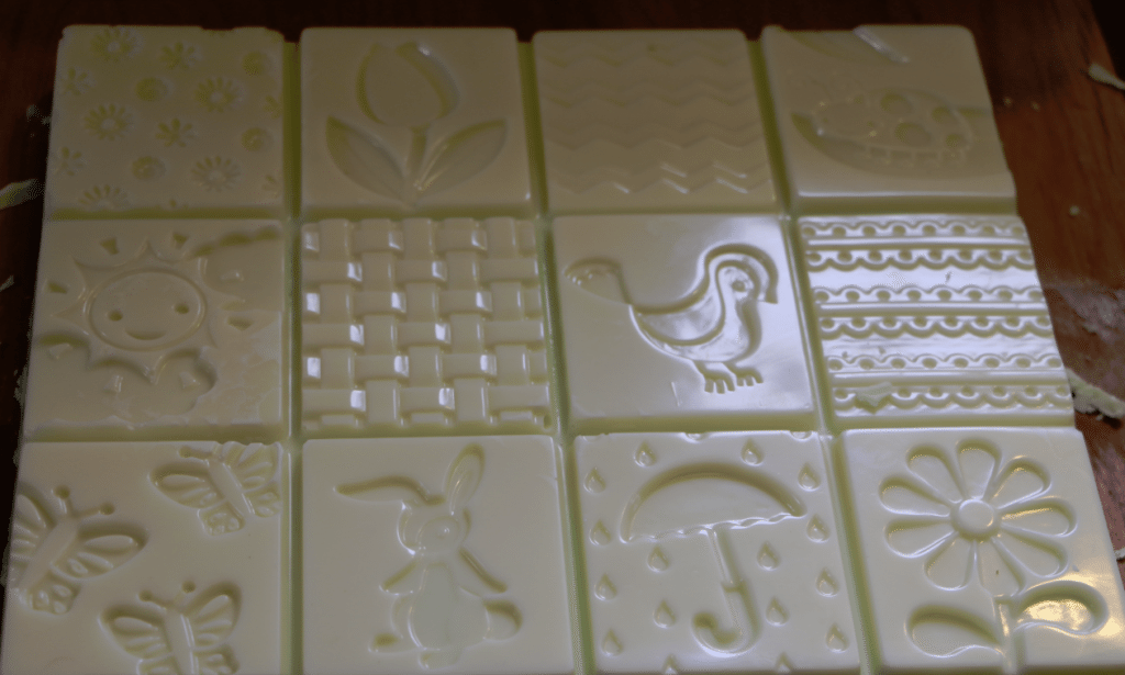 spring fudge in pan mold