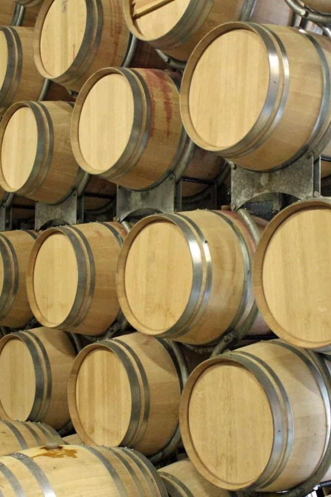 Girgich Hills Estate wine barrels