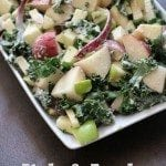 Kale and apple potato salad