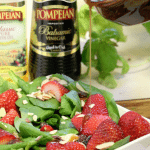 Popmpeian Strawberry Salad with dressing