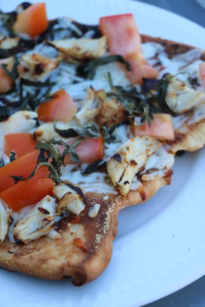 Grilled Bruschetta Chicken Pizza Recipe