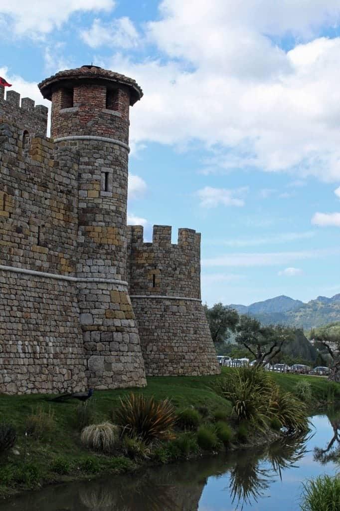 Outside Castle Winery