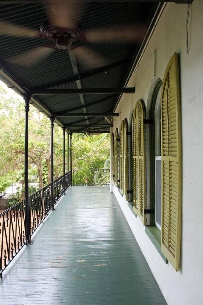Outside deck Hemmingway House