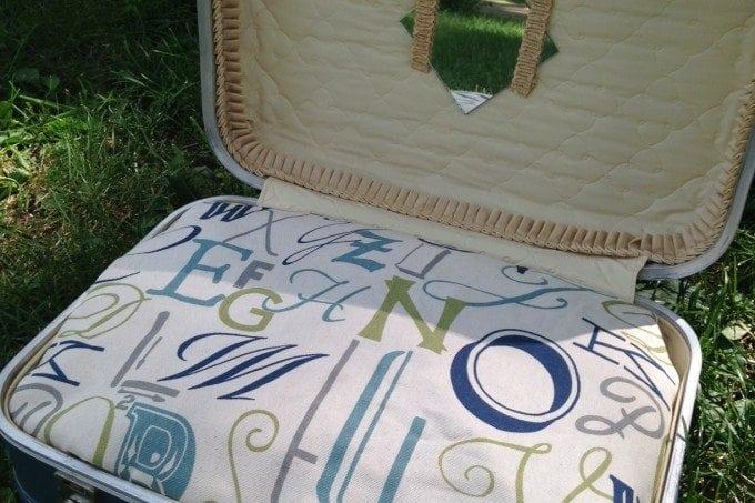 Super Cute DIY Suitcase Pet Bed