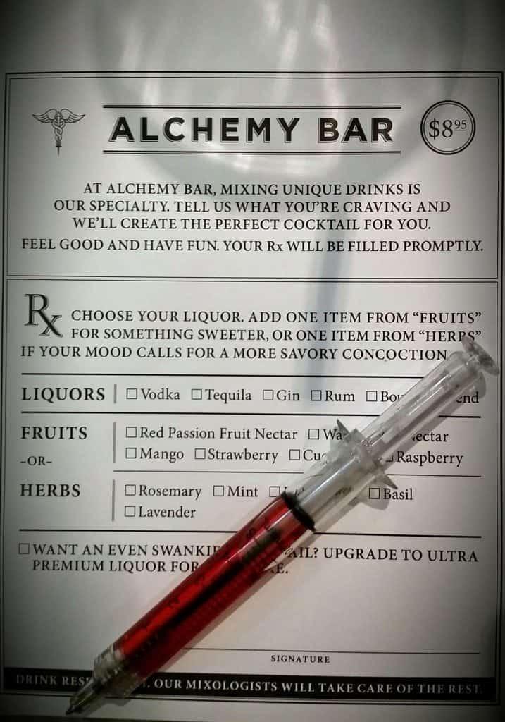 Alchemy Bar prescription