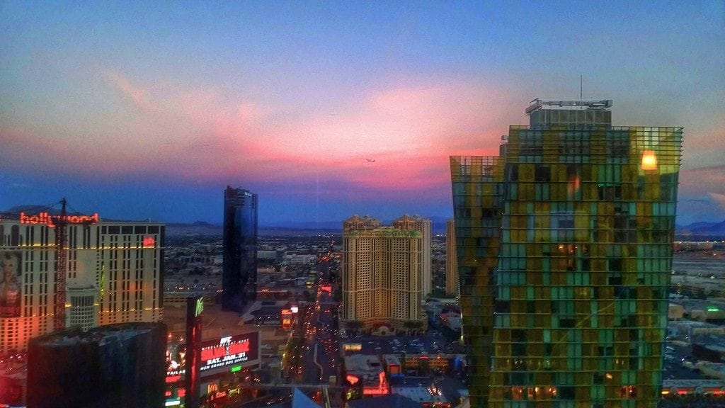 Blog Incredible view from room at Aria Las Vegas