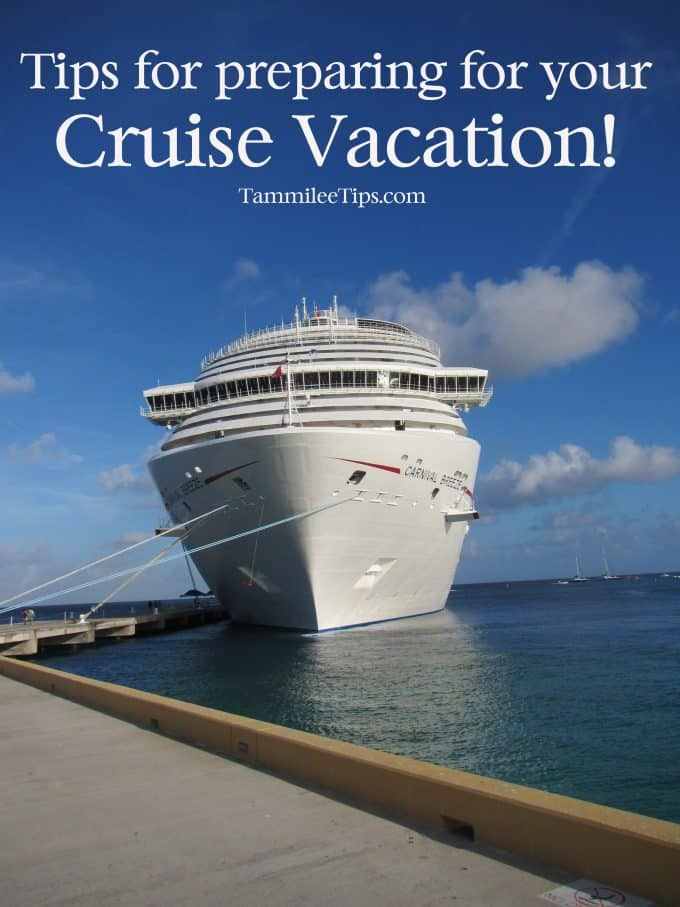 preparing for a tropical cruise vacation If you're planning a cruise vacation soon 10 surprising essentials to take on your cruise is essential to consider when you're preparing for a cruise.