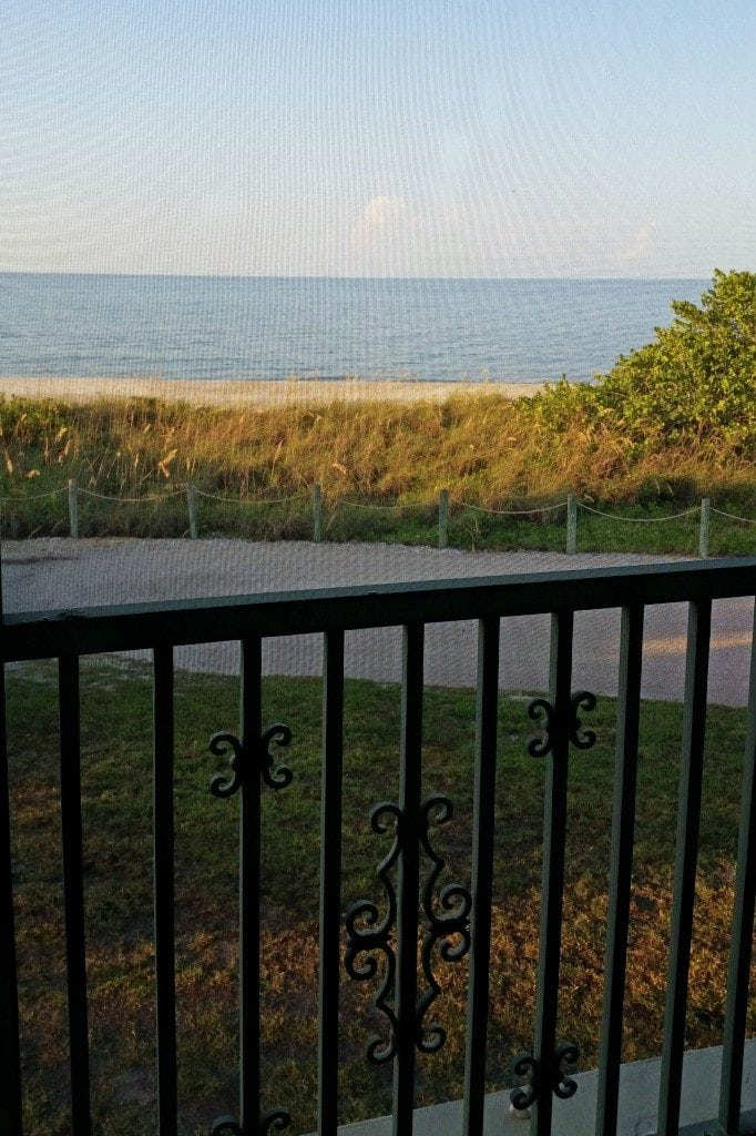 balcony view from room at West Wind Inn Sanibel