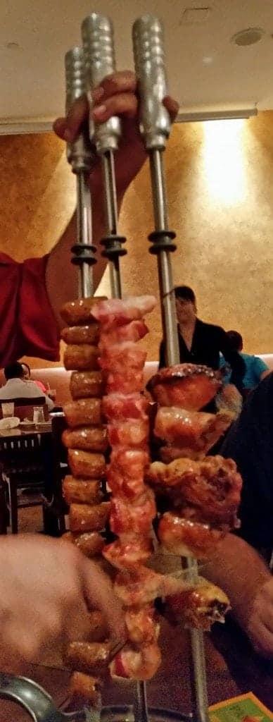 buffet of meats Pampas Las Vegas