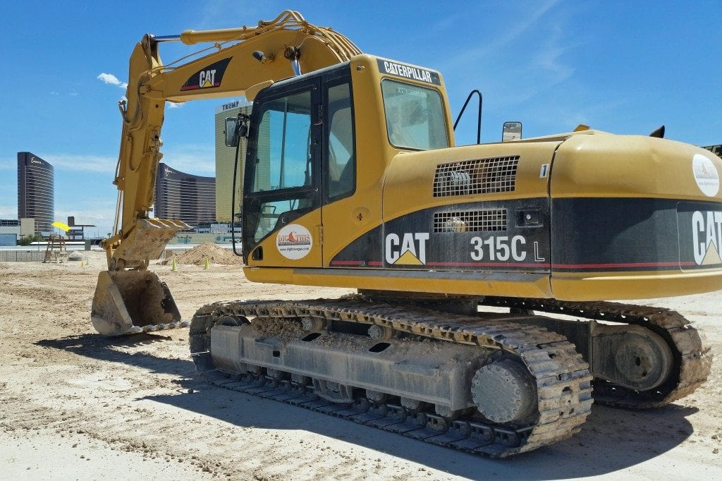 excavator at Dig This Las Vegas