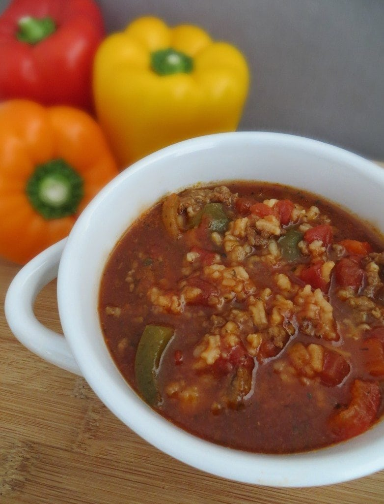 Crock Pot Stuffed Pepper Soup
