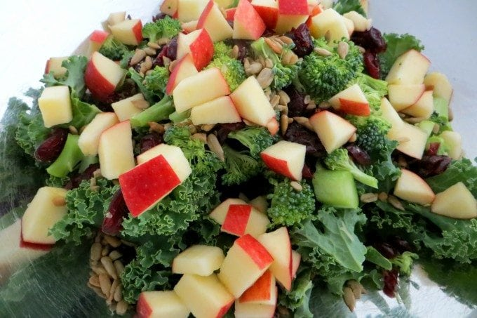 Fall Kale Super Salad and Creamy Poppy Seed Dressing Recipe!