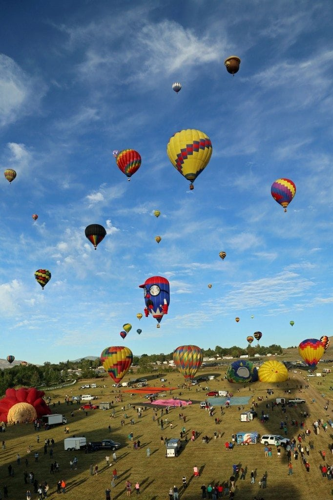 Mass Ascension at Reno Hot Air Baloon Race