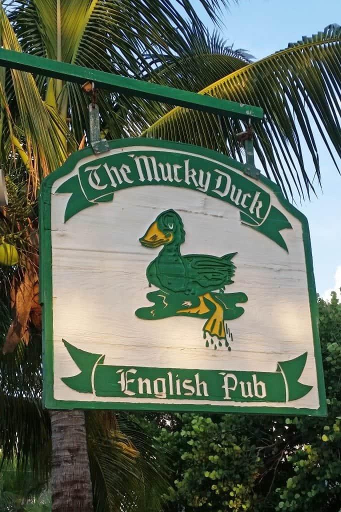 Mucky Duck Sign Captiva Island