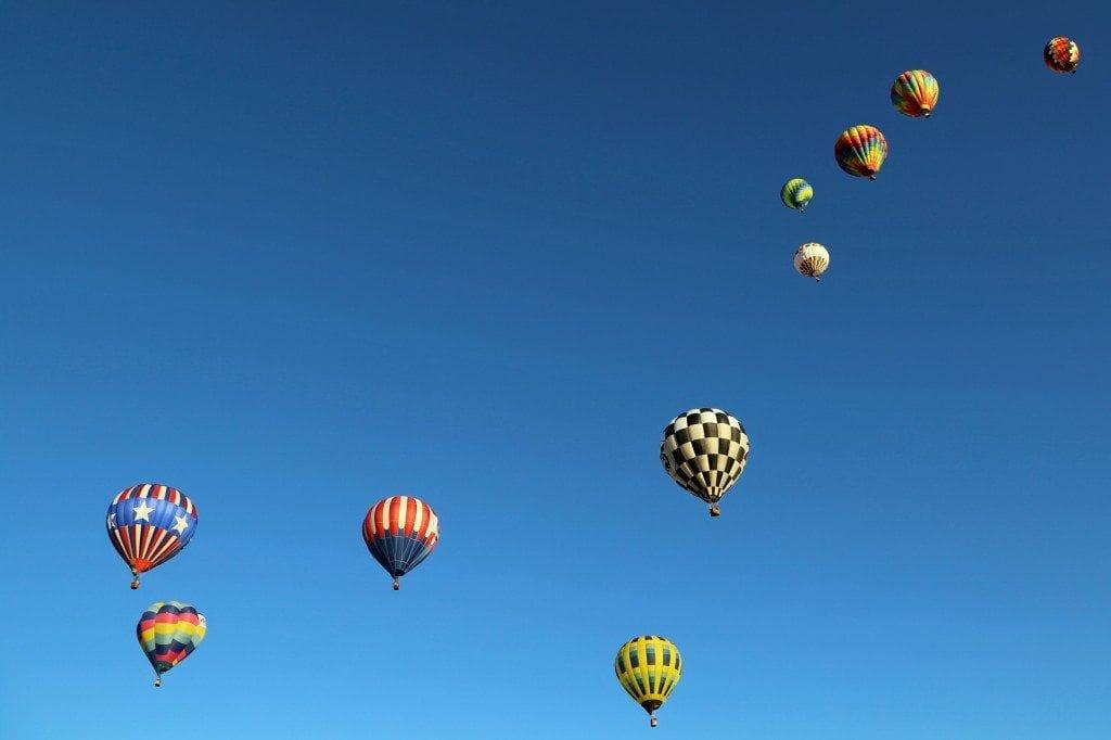 big dipper og hot air baloons at Reno Hot Air Baloon Race