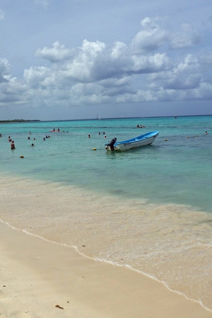 boat in ocean Dominican Republic