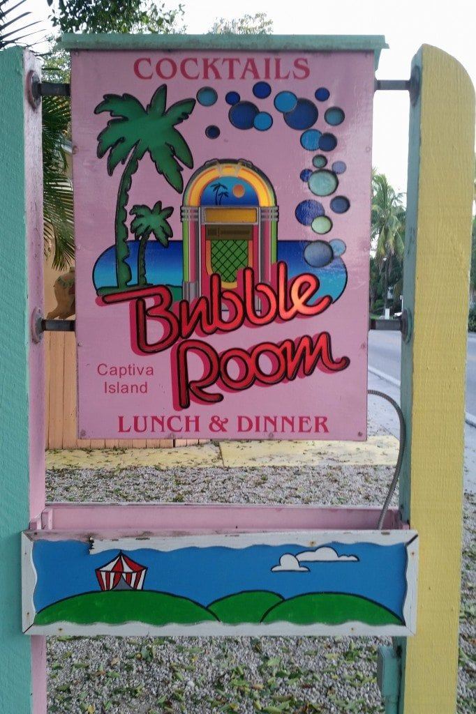 bubble room sign Captiva Island