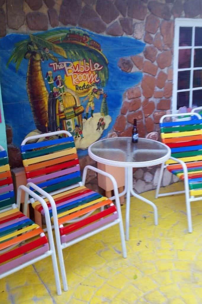 outside seating Bubble Room Captiva Island