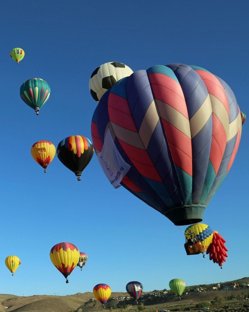 vertical launch time for Mass Ascension Reno Hot Air Baloon Rac