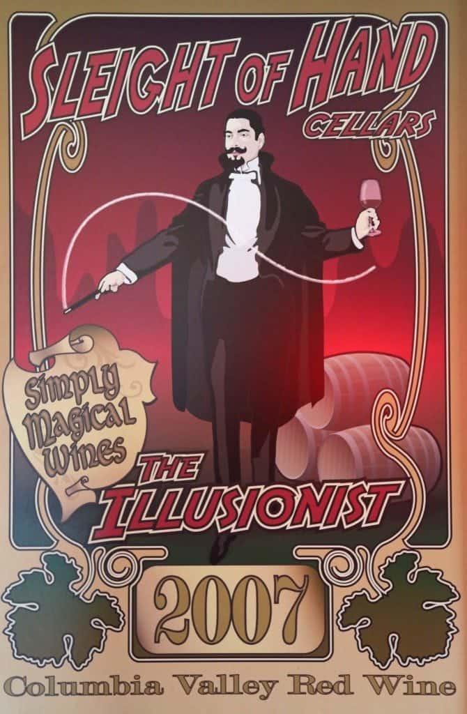2007 The Illusionist wine label Sleight of Hand Cellars Walla Walla Washington