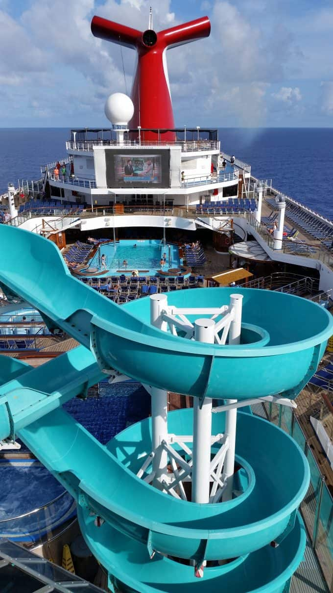 Carnival Freedom Pictures! Photo tour of the Carnival Freedom Cruise Ship! Check out Guy's Burgers, Iguana Cantina, Havana Bar, waterslides, pools, the state room, and more!