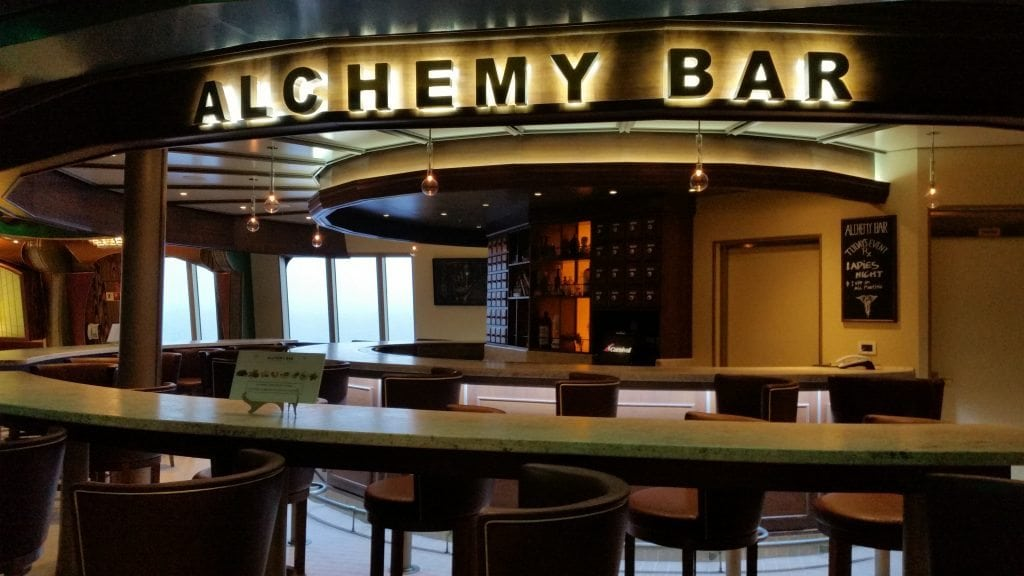 Alchemy Bar on the Carnival Freedom
