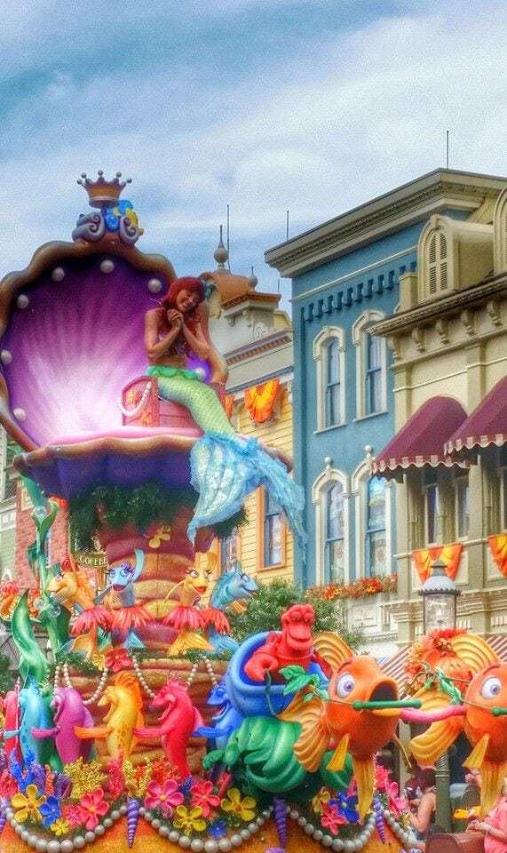 Ariel Disney World Parade