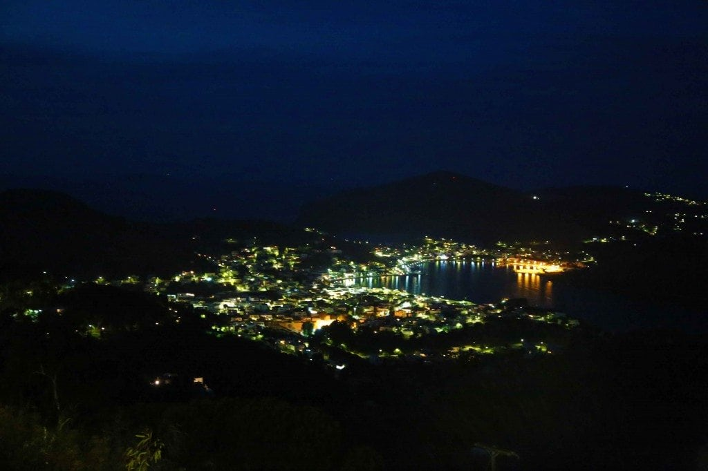 Blog Patmos Greece at night