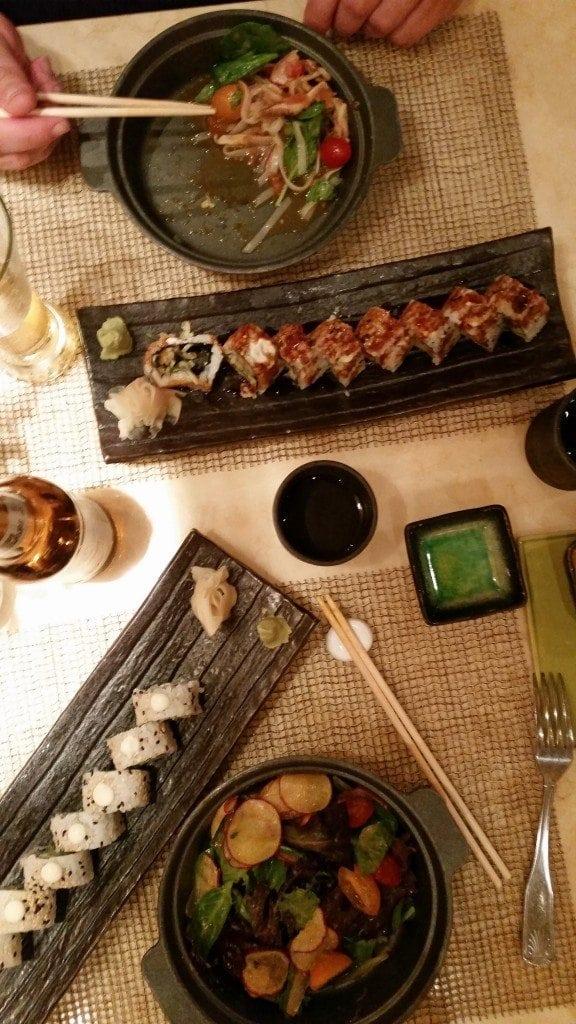 Dinner at Bonsai Sushi