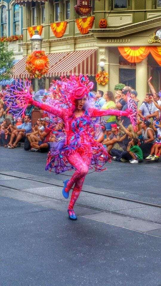 Fun dancer Disney World Parade